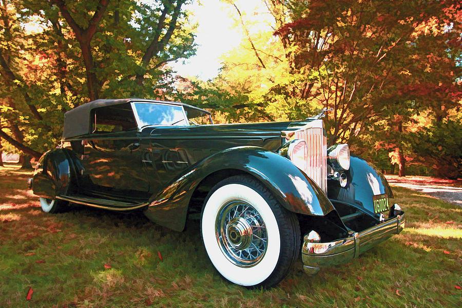 1934 Packard Dietrich Convertible Victoria Photograph