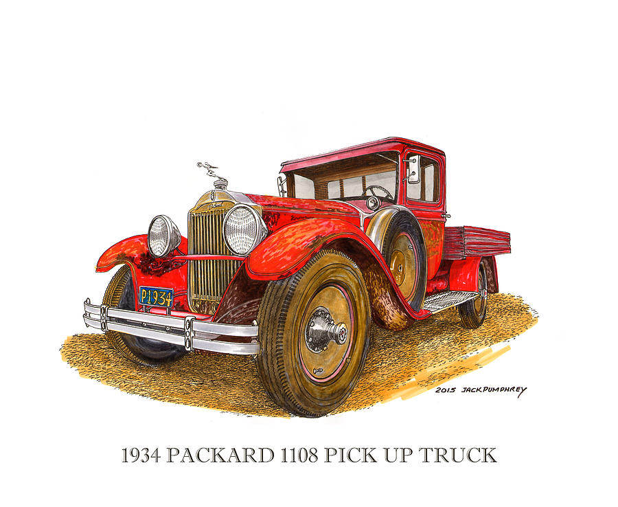 1934 Packard Pick Up Truck Painting