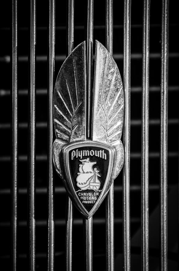 Emblem Photograph - 1934 Plymouth Emblem 2 by Jill Reger