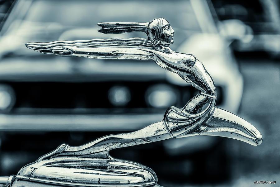 Car Photograph - 1934 Pontiac Hood Ornament by Ken Morris