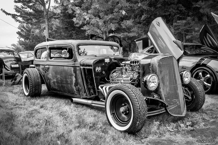 1935 Photograph - 1935 Chevy Sedan Rat Rod by Ken Morris
