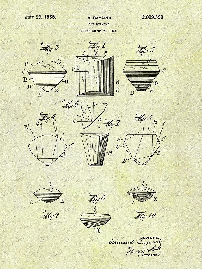 1935 Cut Diamond Patent Drawing