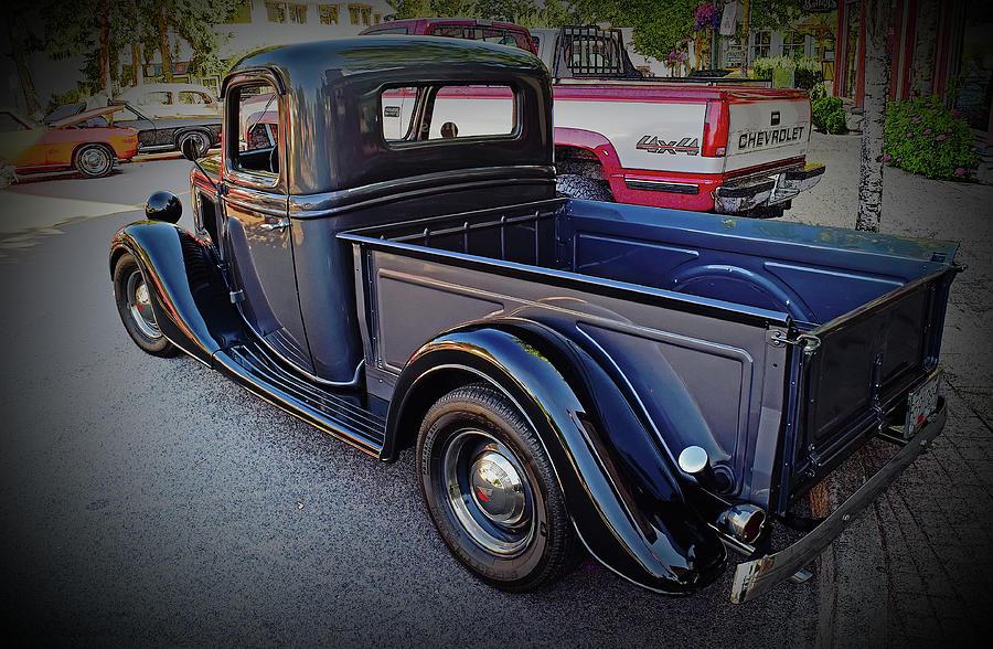 Design Digital Art - 1935 Ford Pickup by Richard Farrington