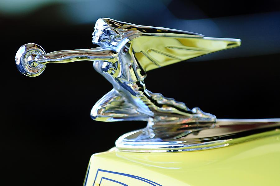 1935 Packard Photograph - 1935 Packard Hood Ornament by Jill Reger