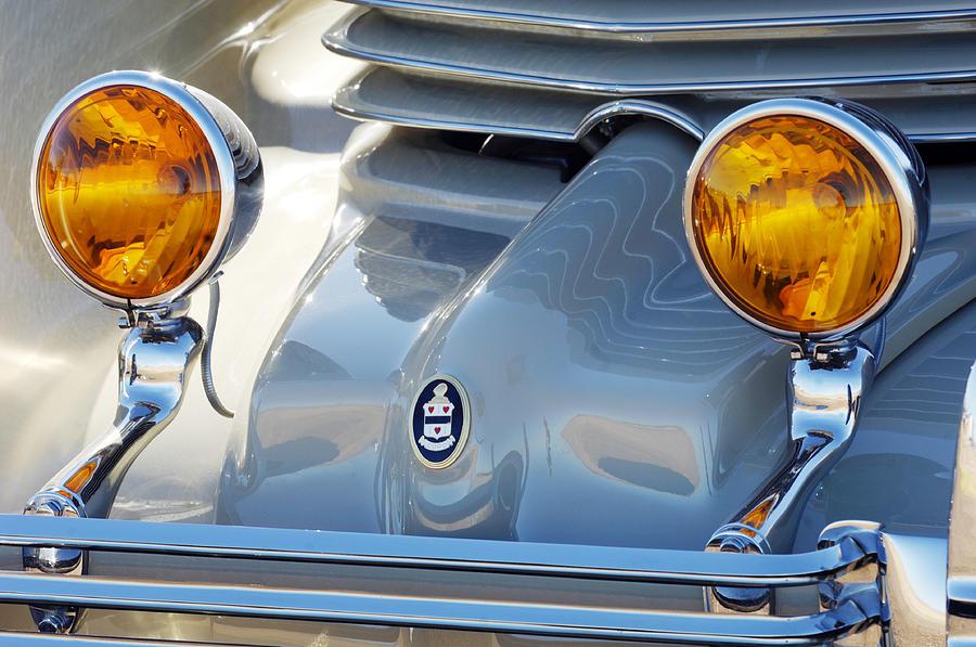 Car Photograph - 1936 Cord Phaeton Headlights by Jill Reger