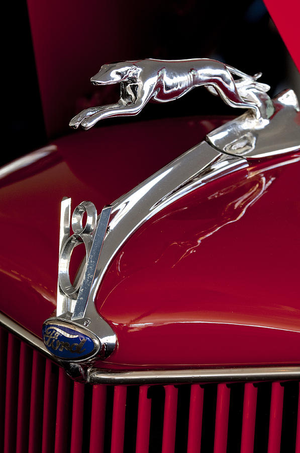 Hoodie Photograph - 1936 Ford 68 Pickup Hood Ornament by Jill Reger