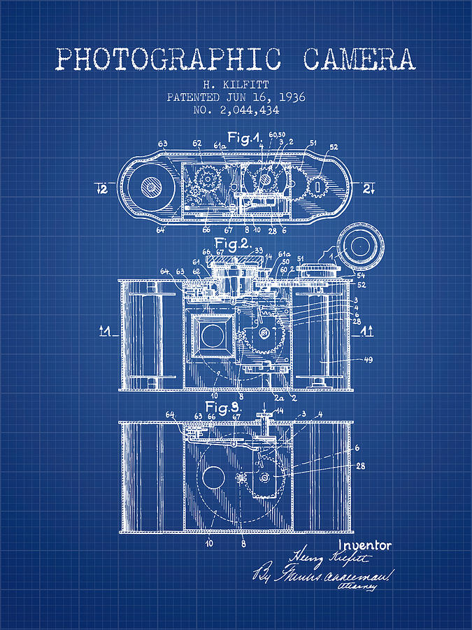 1936 photographic camera patent blueprint digital art by aged pixel camera digital art 1936 photographic camera patent blueprint by aged pixel malvernweather Image collections