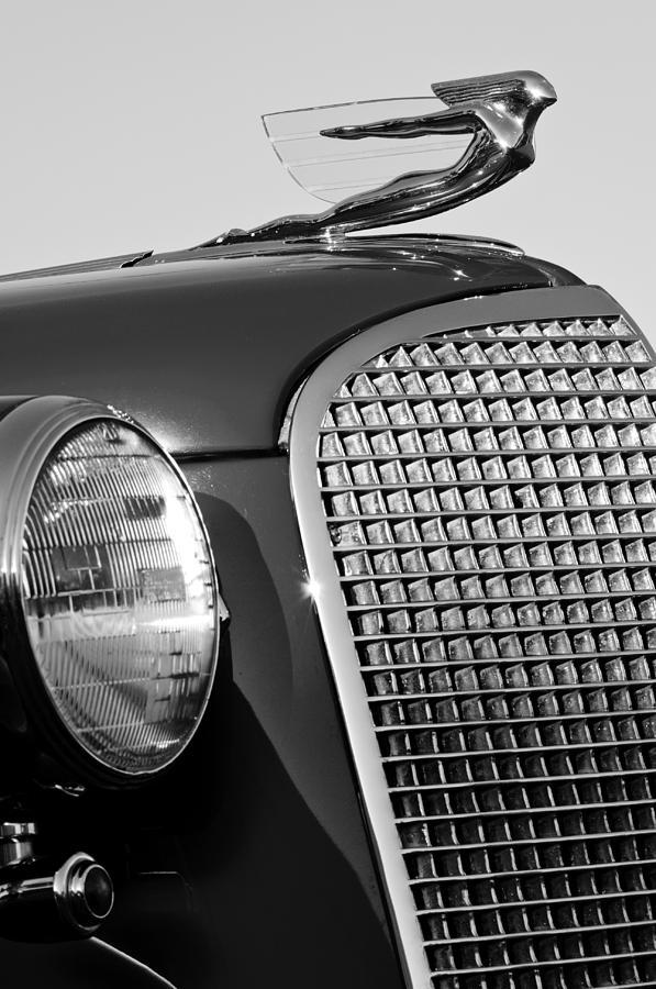 1937 Cadillac V8 Photograph - 1937 Cadillac V8 Hood Ornament 3 by Jill Reger