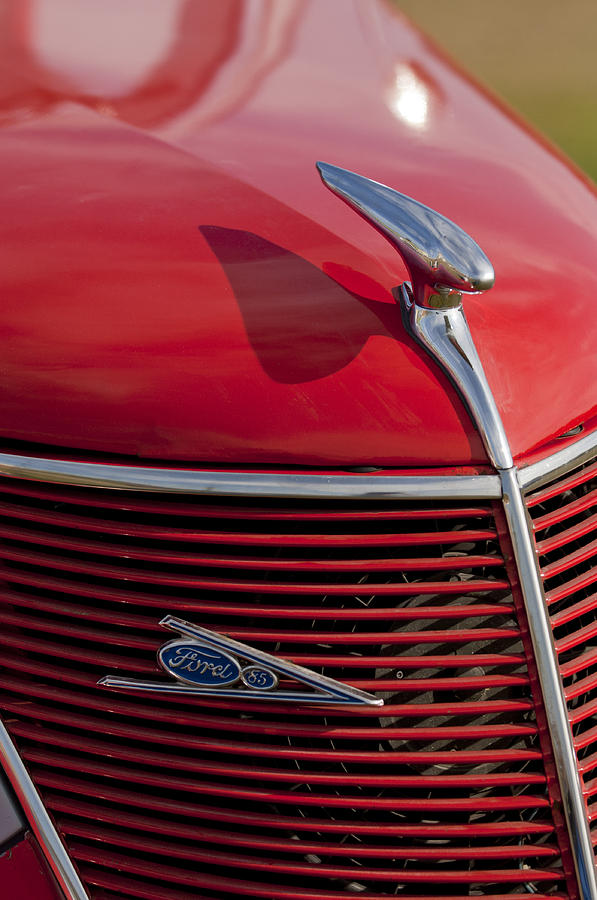 1937 Ford Photograph - 1937 Ford Hood Ornament by Jill Reger