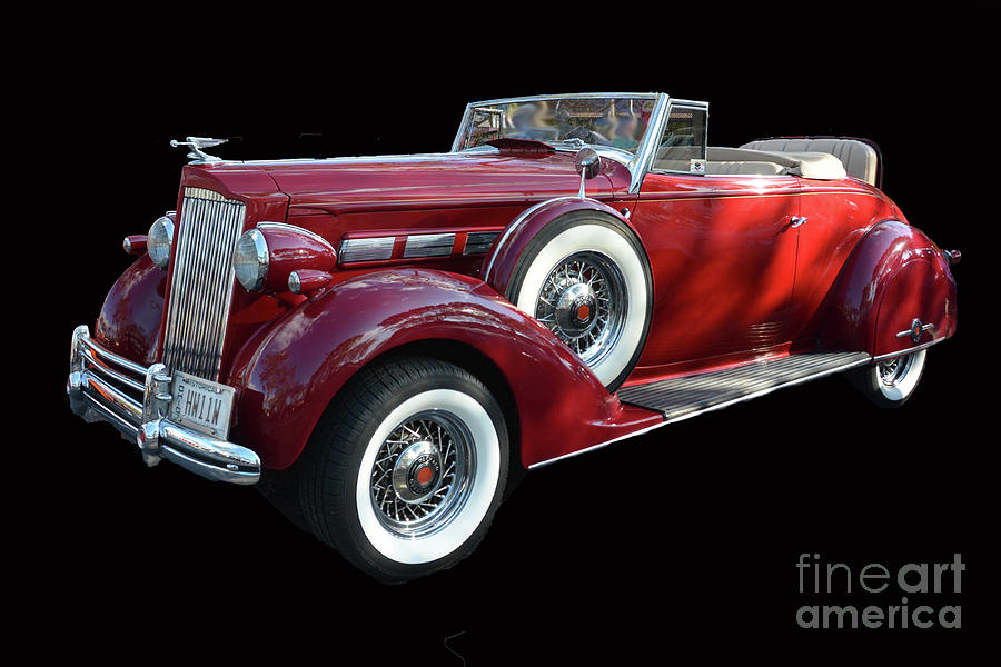 1937 Packard Convertible Coupe Roaster With Rumble Seat Red