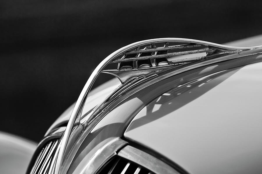 1937 Plymouth Photograph - 1937 Plymouth Hood Ornament 3 by Jill Reger