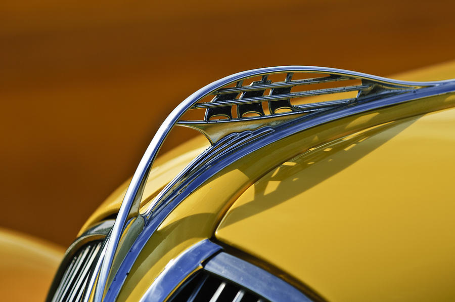 1937 Plymouth Photograph - 1937 Plymouth Hood Ornament by Jill Reger