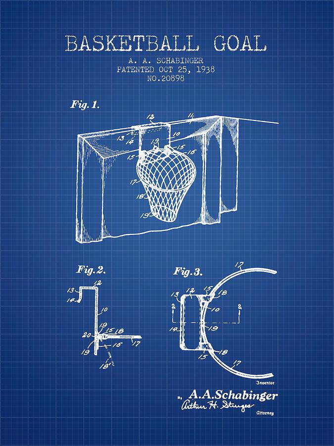 1938 basketball goal patent blueprint digital art by aged pixel basketball digital art 1938 basketball goal patent blueprint by aged pixel malvernweather Choice Image