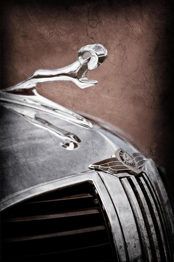 Transportation Photograph - 1938 Dodge Ram Grille - Hood Ornament -0299ac by Jill Reger