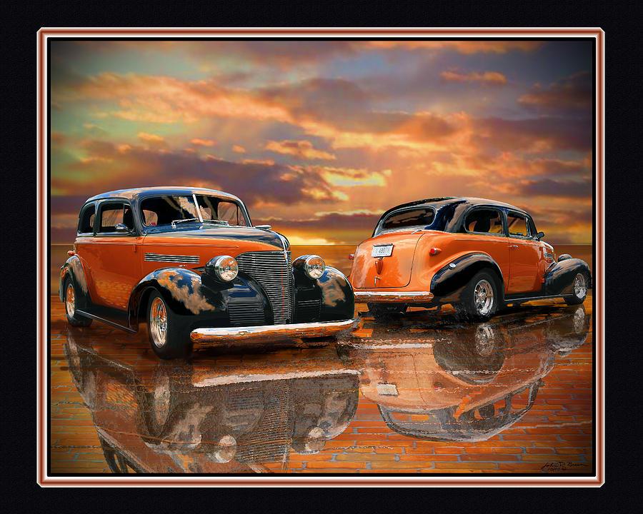 Street Rod Painting - 1939 Chevy by John Breen