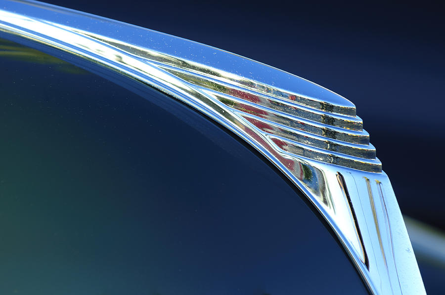 1939 Ford Deluxe Photograph - 1939 Ford Deluxe Hood Ornament by Jill Reger