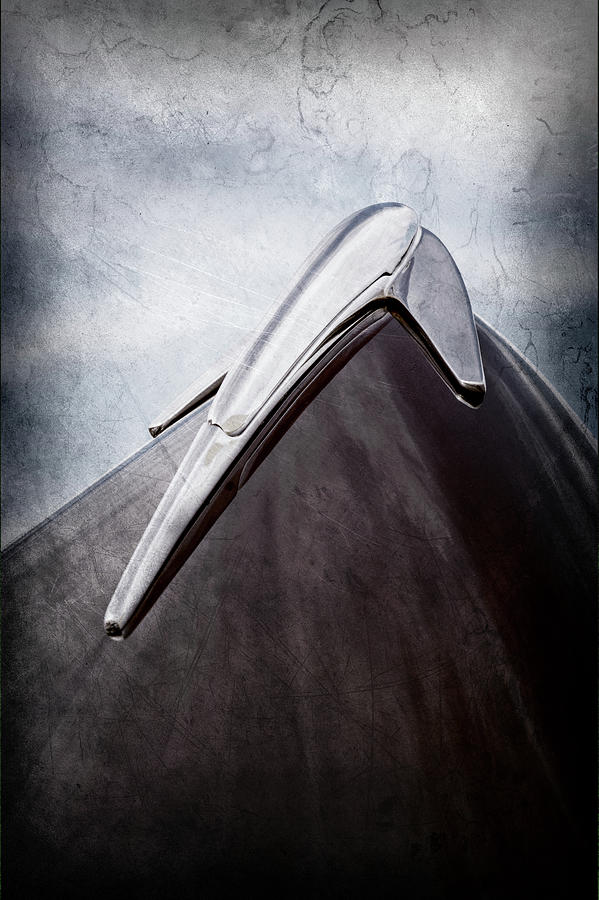 Transportation Photograph - 1939 Lincoln Zephyr Hood Ornament -0354ac by Jill Reger