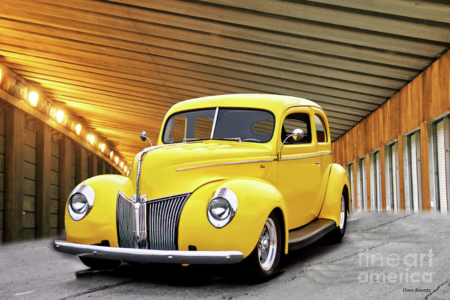 1940 Ford Deluxe Sedan mellow In Yellow II Photograph