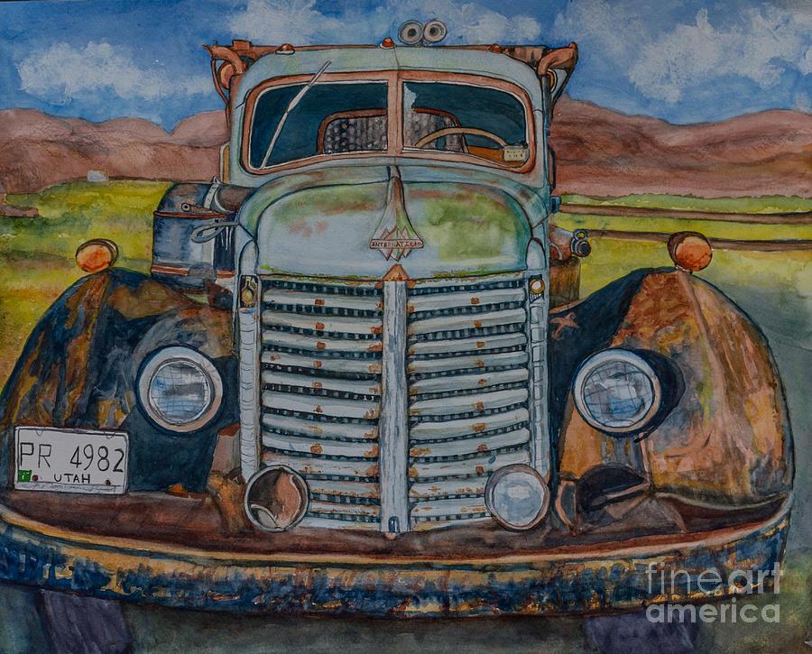 1940 Painting - 1940 International Harvester Truck by DJ Laughlin