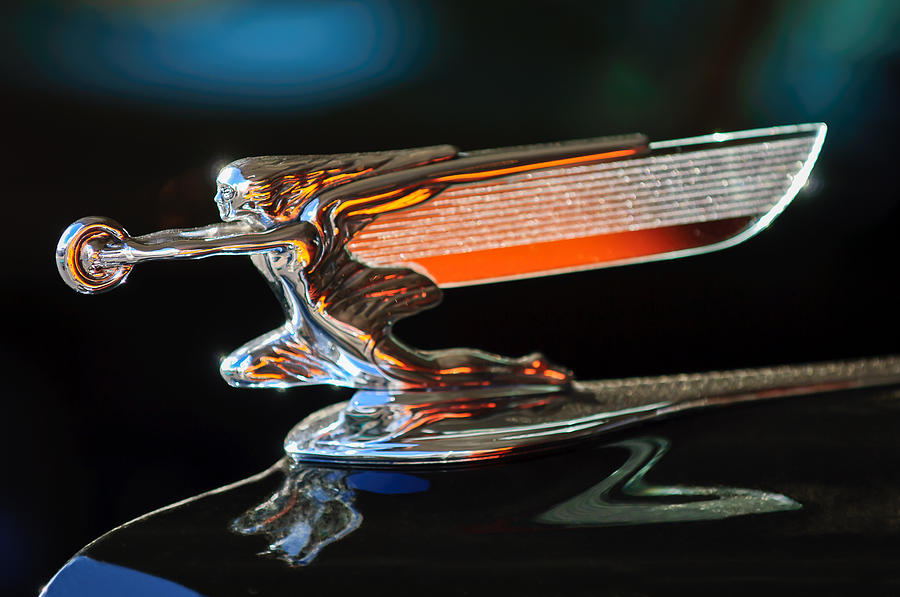 Goddess Of Speed Photograph - 1940 Packard 110 Custom Convertible Hood Ornament by Jill Reger