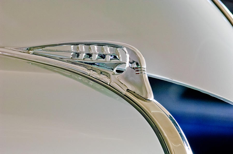 1940 Plymouth Business Coupe Photograph - 1940 Plymouth Hood Ornament 3 by Jill Reger