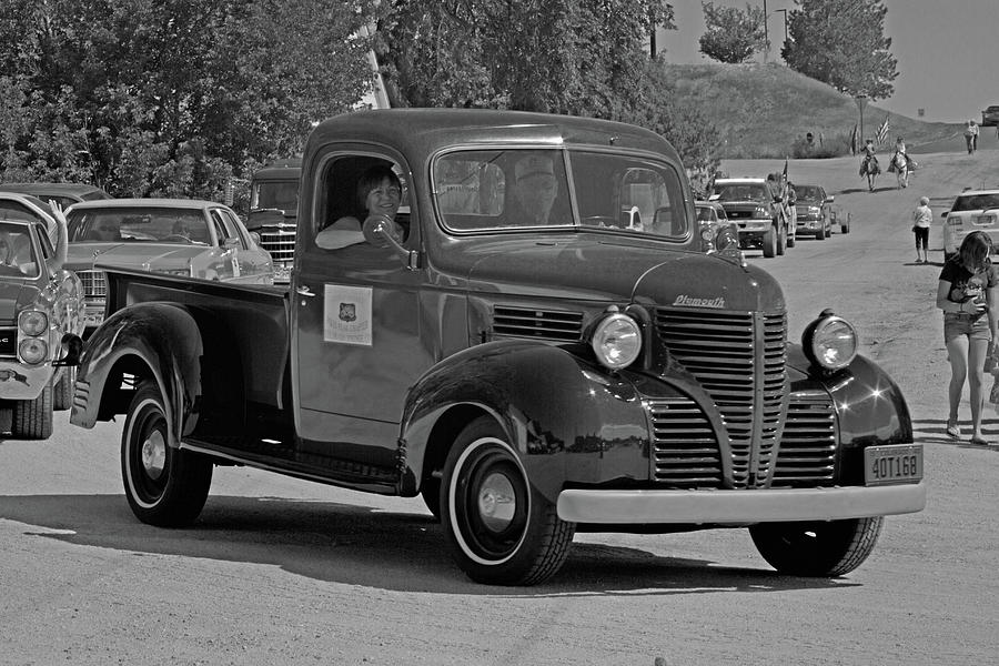 Automotive Photograph - 1940 Plymouth Truck Monochrome by Alana Thrower
