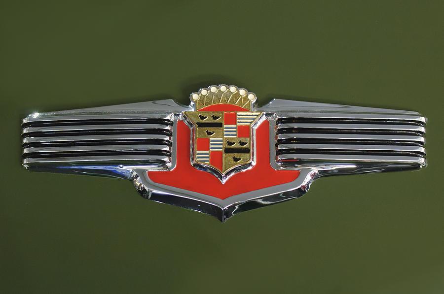 Emblem Photograph - 1941 Cadillac 62 Emblem by Jill Reger