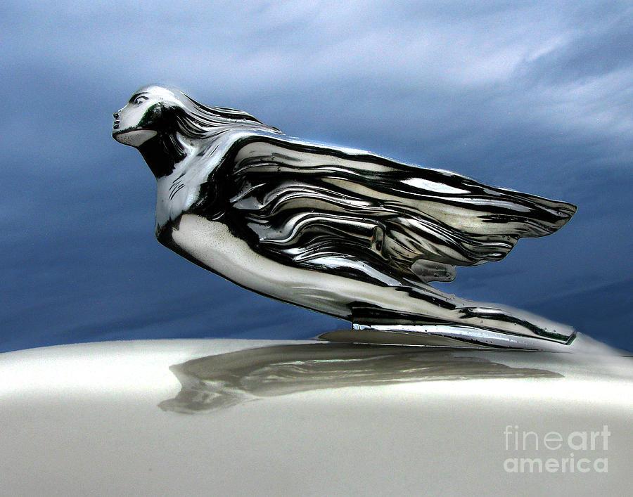 Hood Ornament Photograph - 1941 Cadillac Emblem Abstract by Peter Piatt