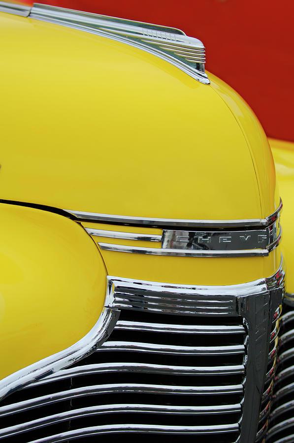 Chevy Photograph - 1941 Chevrolet Sedan Hood Ornament 2 by Jill Reger