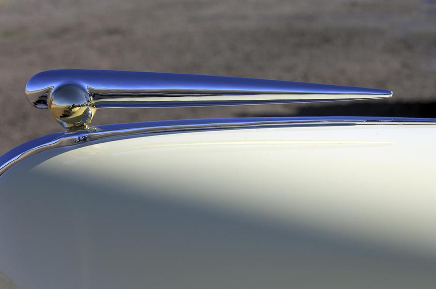 Hood Ornament Photograph - 1941 Lincoln Continental Cabriolet V12 Hood Ornament by Jill Reger