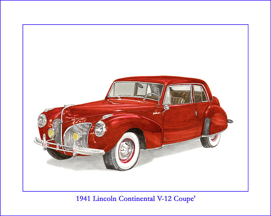 1941 Mk I Lincoln Continental Painting by Jack Pumphrey