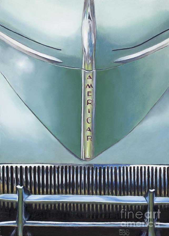 40s Painting - 1941 Willys Americar by Elaine Brady Smith by Elaine Brady Smith
