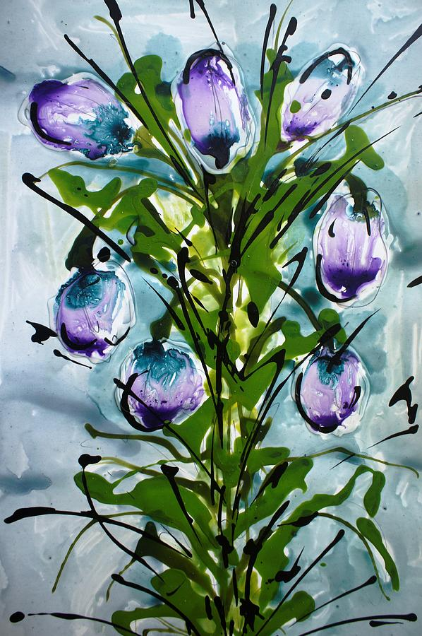 Floral Painting - Heavenly Flowers by Baljit Chadha