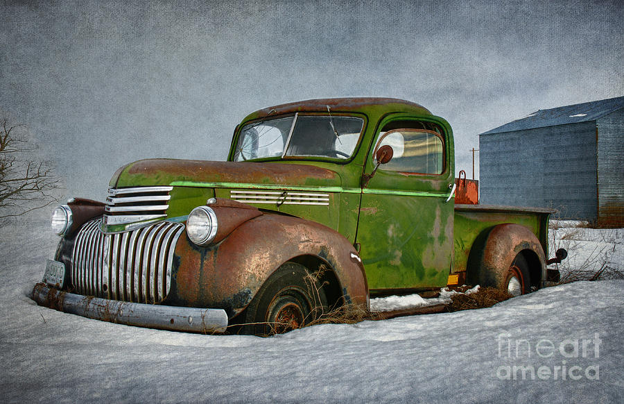 Made In America Photograph - 1946 Chevy Truck by Beve Brown-Clark Photography