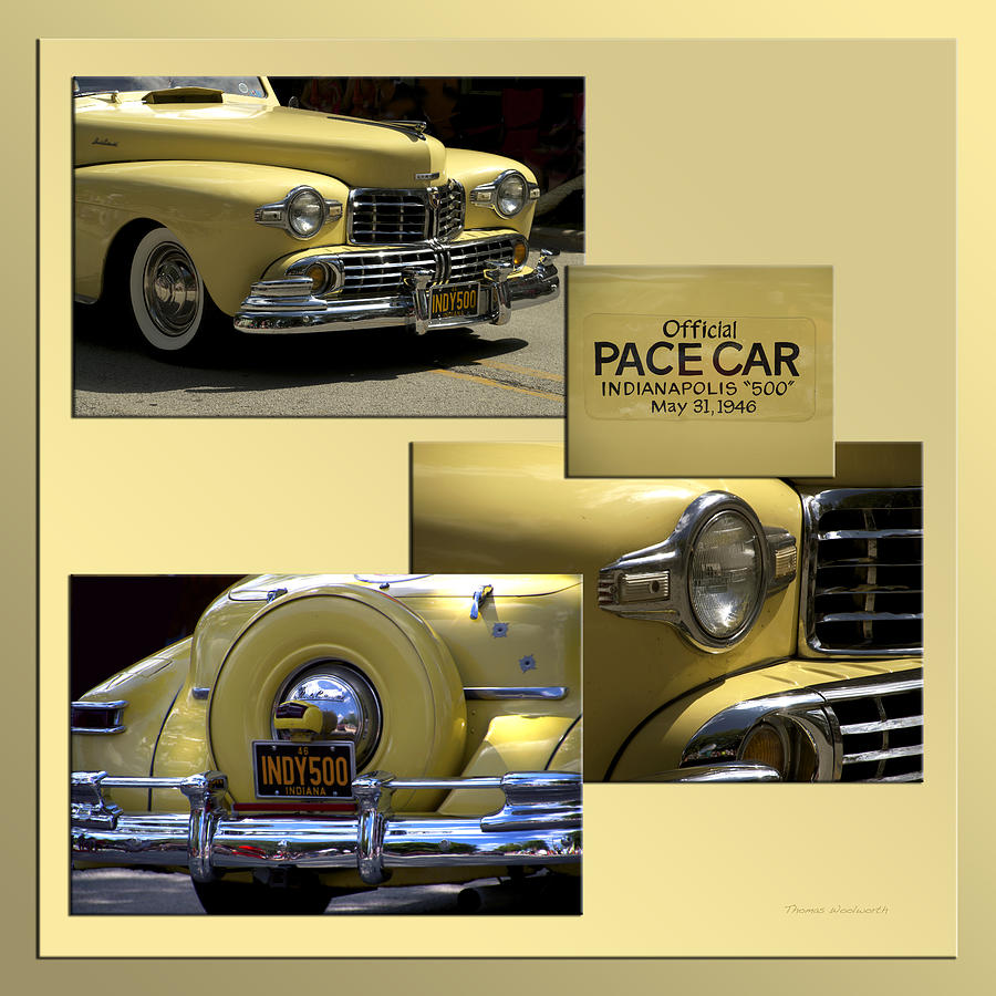 1946 Indy 500 Pace Car Collage Photograph by Thomas Woolworth