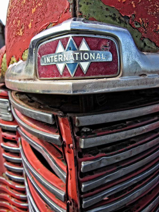 International Harvester Photograph - 1946 International Harvester Truck Grill by Daniel Hagerman