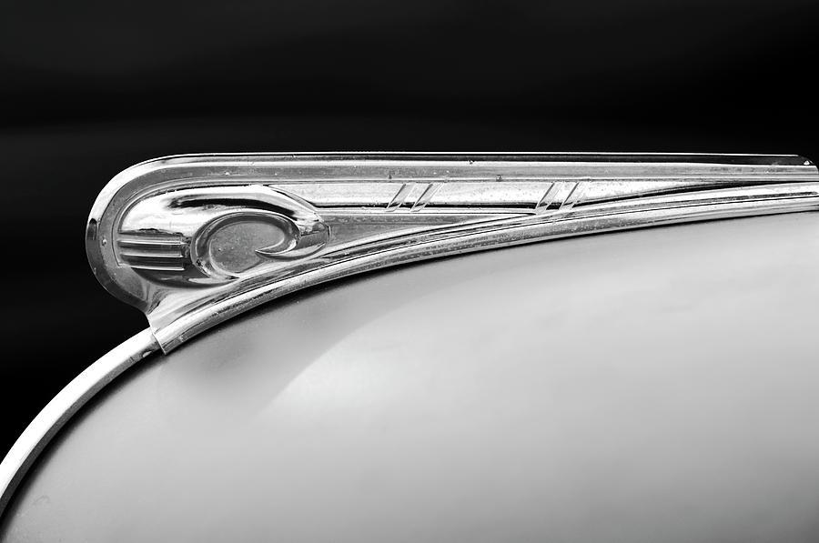 Black And White Photograph - 1947 Dodge Gi Joe Hood Ornament 2 by Jill Reger