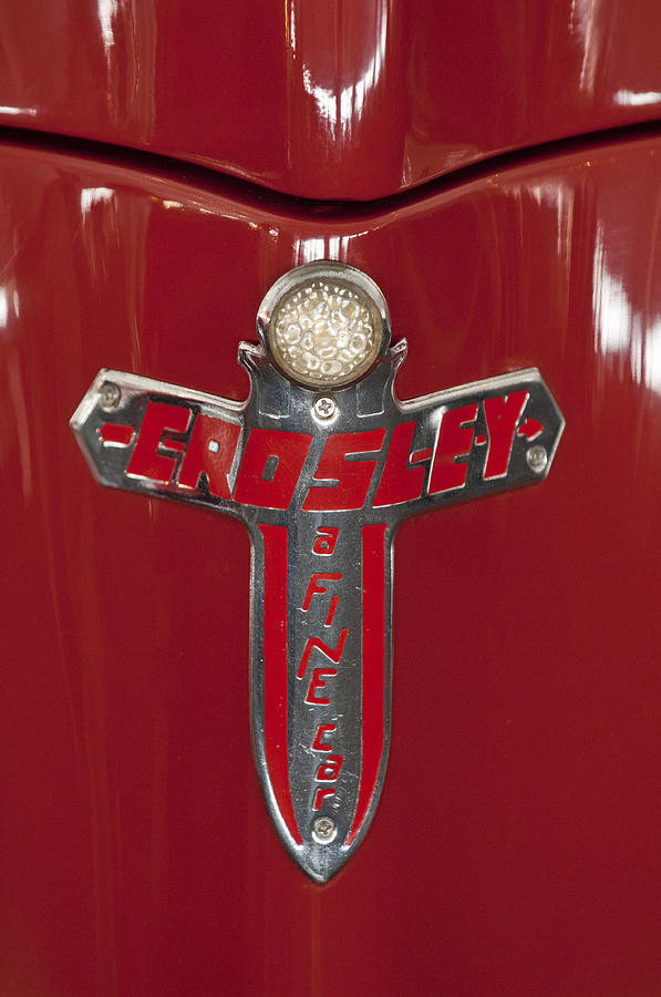 Emblem Photograph - 1948 Crosley Convertible Emblem by Jill Reger