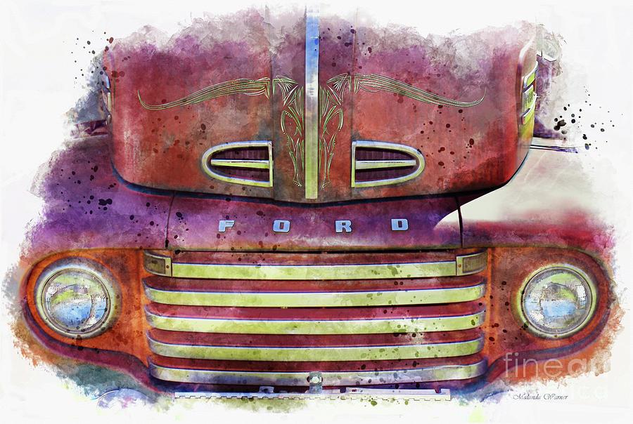 1948 Ford COE Truck by Malanda Warner