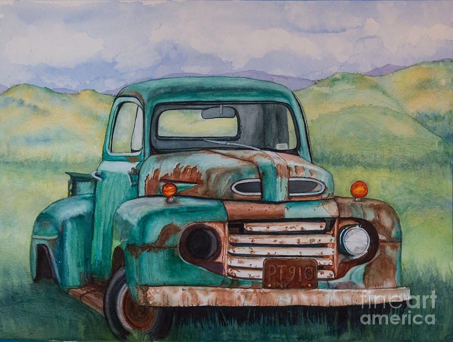 2015 Painting - 1948 Ford Pickup Rusty Gem  by DJ Laughlin