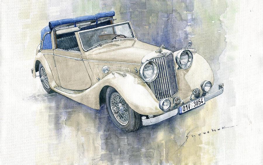 Automotive Painting - 1948 Jaguar Mark IV DHC by Yuriy Shevchuk