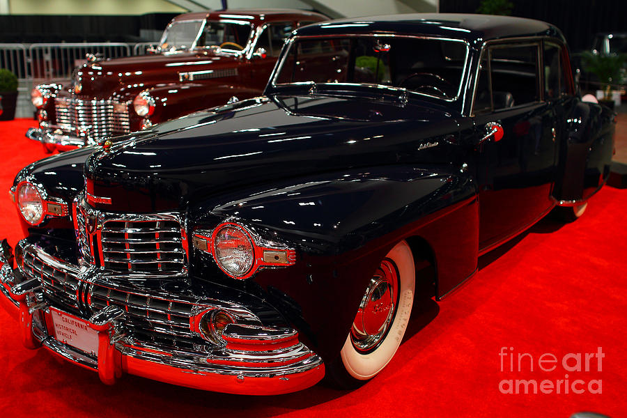 Transportation Photograph - 1948 Lincoln Continental Coupe . Deep Blue . 7d9256 by Wingsdomain Art and Photography