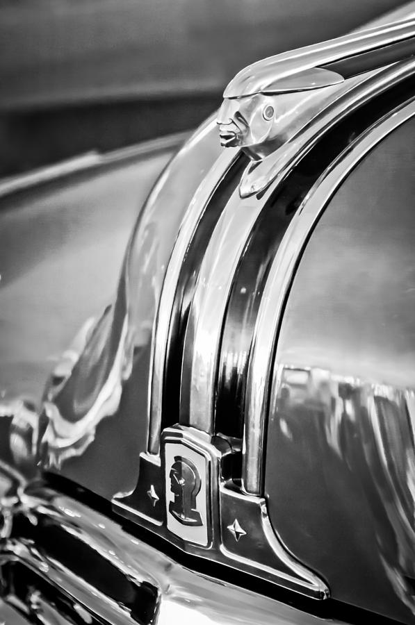 1948 Pontiac Hood Ornament Photograph - 1948 Pontiac Chief Hood Ornament 4 by Jill Reger