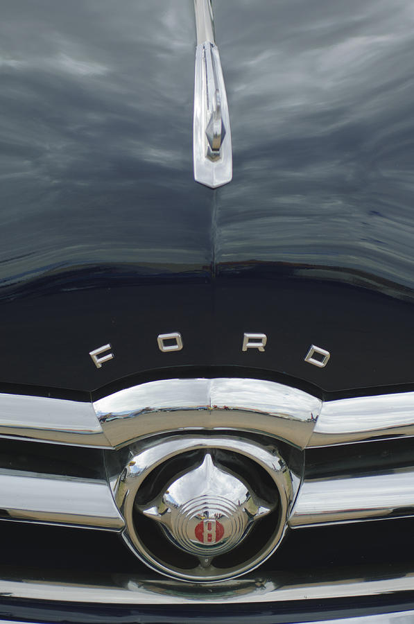 1949 Ford Photograph - 1949 Ford Hood Ornament 4 by Jill Reger