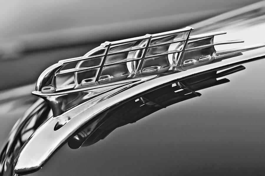 1949 Plymouth Photograph - 1949 Plymouth Hood Ornament 2 by Jill Reger