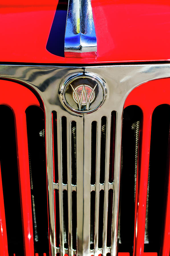 Classic Cars Photograph - 1949 Willys Jeepster Hood Ornament And Grille by Jill Reger