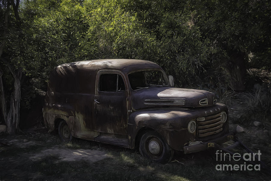 1950 Photograph - 1950 Ford Panel Truck  by Bitter Buffalo Photography