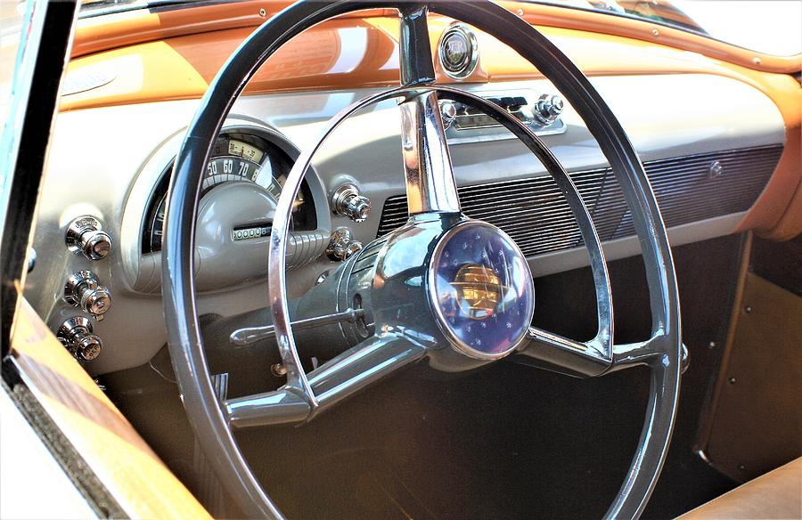 Auto Photograph - 1950 Olds - Oldsmobile 88 Dashboard by WHBPhotography Wallace Breedlove
