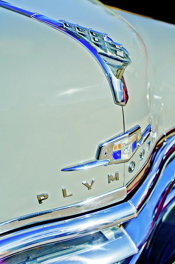 Car Photograph - 1950 Plymouth Coupe Hood Ornament by Jill Reger