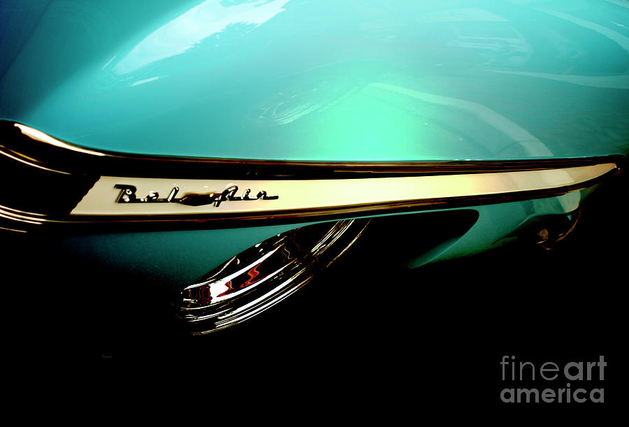 Vintage Cars Photograph - 1950s Chevy Bel Air by Steven Digman